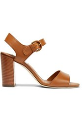Tod's Leather Sandals Light Brown