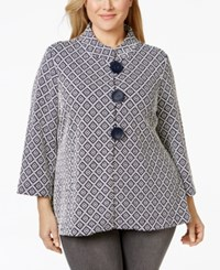 Jm Collection Woman Jm Collection Plus Size Flared A Line Retro Knit Jacket Only At Macy's