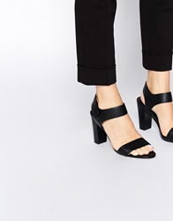 Aldo Istrago Black Velcro Strap Heeled Sandals
