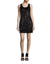 Bb Dakota Sleeveless Sequined Sheath Dress Black