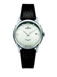 Hamilton Jazzmaster Thin O Matic Stainless Steel And Leather Strap Watch Brown Silver