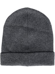 Brunello Cucinelli Ribbed Beanie Grey