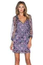 Gypsy 05 Long Sleeve Peasant Dress Purple
