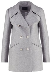 Ikks Short Coat Gris Clair Chine Grey