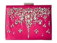 Badgley Mischka Adele Fuchsia Clutch Handbags Pink