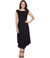 Mod O Doc Cotton Modal Spandex Jersey Shirred Waist Tank Dress Black Women's Dress