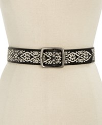 Inc International Concepts Floral Embroidered Belt Only At Macy's Black