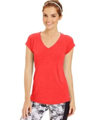 Ideology Essential V Neck Performance T Shirt Cross Fit Coral