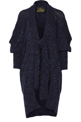 Vivienne Westwood Atmos Chunky Knit Wool Blend Cardigan Blue
