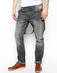 Voi Jeans Five Pocket Jeans With Braces Grey