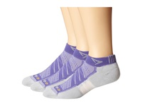 Drymax Sport Max Cushion Run Packaged Mini Crew 3 Pair Pack Lilac Crew Cut Socks Shoes Purple