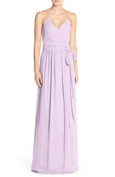 Women's Ceremony By Joanna August 'Dc' Halter Wrap Chiffon Gown