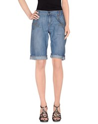 Playboy Denim Denim Bermudas Women Blue