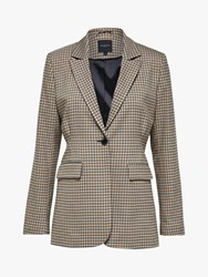 Selected Femme Margery Check Blazer Brown