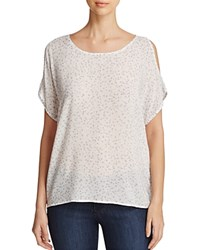 Side Stitch Cold Shoulder Tee 100 Bloomingdale's Exclusive Talia Print