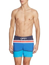 Lacoste Engineered Stripe Swim Trunks Multi