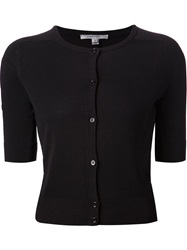 Carven Sheer Panelled Cardigan Black