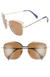 Draper James 60Mm Cat Eye Sunglasses Gold