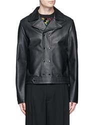 Mcq By Alexander Mcqueen 'Moss' Leather Biker Jacket Black