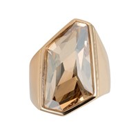 Aurora Geometric Ring Gold Yellow