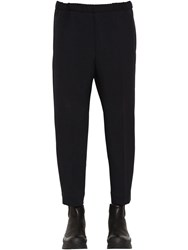 Jil Sander Cropped Tech Gabardine Pants Dark Blue