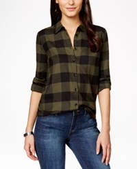 G.H. Bass And Co. Plaid Button Front Shirt Moss Multi