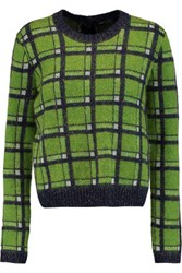 Marc By Marc Jacobs Prudence Jacquard Knit Cardigan Green
