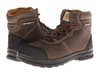 Carhartt 6 Inch Stomp Light Waterproof Work Boot Chocolate Brown Oil Tanned Leather Men's Work Boots
