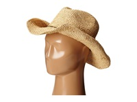 Hat Attack Raffia Crochet Cowboy Natural Mixed Metal Beads Traditional Hats Beige