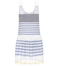 Lemlem Assaman Cotton Blend Striped Dress White