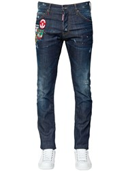 Dsquared 16.5Cm Cool Guy Denim Jeans W Patches