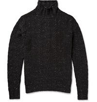 Grayers Albert Cable Knit Cotton Rollneck Sweater Gray