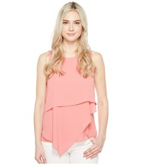 Vince Camuto Sleeveless Asymmetrical Layered Blouse Rossetto Women's Blouse