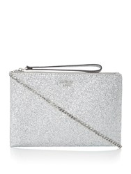 Guess Eletric Party Clutch Cross Body Bag Silver