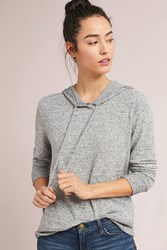 Anthropologie Brushed Fleece Hoodie Grey