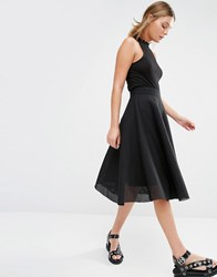 New Look Full Midi Skirt Black