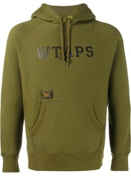 Wtaps Logo Hooded Sweatshirt Green