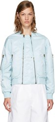 Kenzo Blue Elevated Military Bomber Jacket