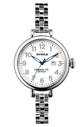Shinola 'The Birdy' Bracelet Watch 34Mm Silver
