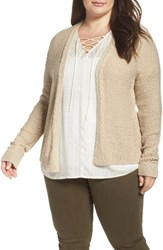 Lucky Brand Plus Size Women's Open Stitch Open Front Cardigan