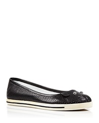 Marc By Marc Jacobs Ballet Flats Mouse Constructed Perforated