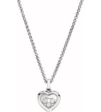 Chopard Happy Diamonds Icons 18Ct White Gold And Diamond Pendant