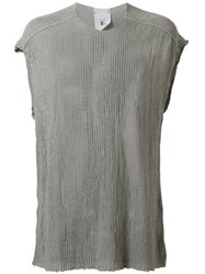 Lost And Found Rooms Mesh Tank Top Men Cotton M Grey