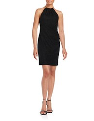 Eliza J Textured Halter Dress Black