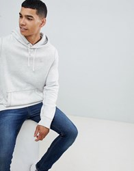 Abercrombie And Fitch Icon Logo Hoodie In Light Grey Marl