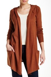 Colour Works Long Sleeve Hooded Cardigan Brown