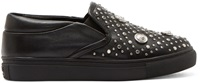 Versus Black Studded Slip On Sneakers