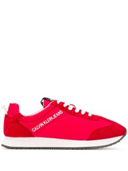 Calvin Klein Jeans Smooth Panel Sneakers Red