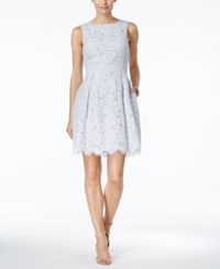 Jessica Howard Floral Lace Fit And Flare Dress Blue