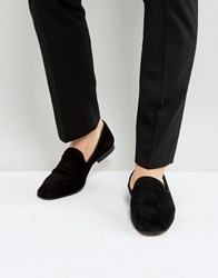 Zign Suede Dress Loafers Black